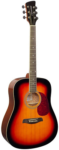 Brunswick Dreadnought Acoustic Guitar in Sunburst Gloss