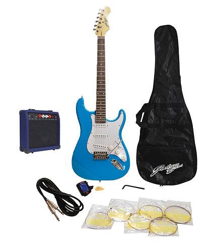 Johnny Brook Electric Guitar Starter Kit in Blue