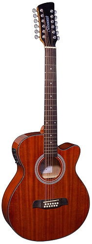 Brunswick Grand Auditorium 12-String Electro Acoustic Guitar in Mahogany