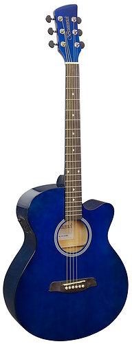 Brunswick Grand Auditorium Electro Acoustic Guitar in Dark Blue Gloss