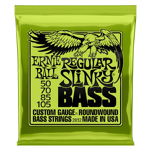 Ernie Ball Regular Slinky Bass Guitar Strings (50-105) Roundwound