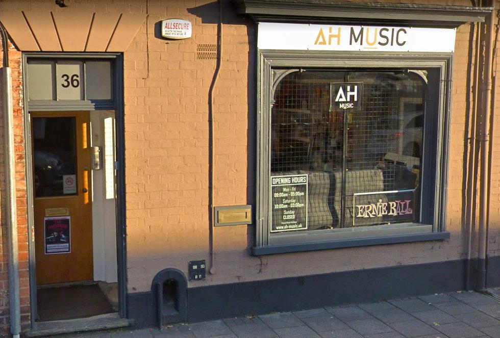 AH Music Shop Front