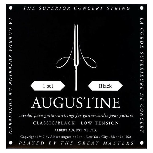 Augustine Classic Black Classical Guitar Strings (Tie on) Low Tension