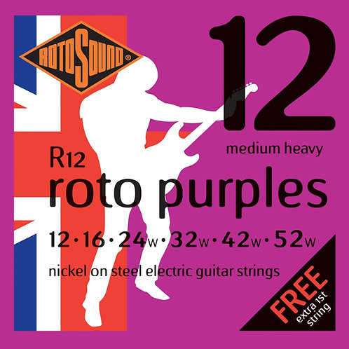 Rotosound R12 Medium Heavy Electric Guitar Strings (12-52)