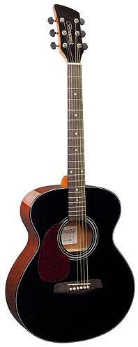 Brunswick Grand Auditorium Acoustic Guitar in Black Gloss Left Handed