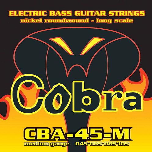 Cobra CBA-45-M Nickel Roundwound Bass Guitar Strings (45-105) Medium Long Scale