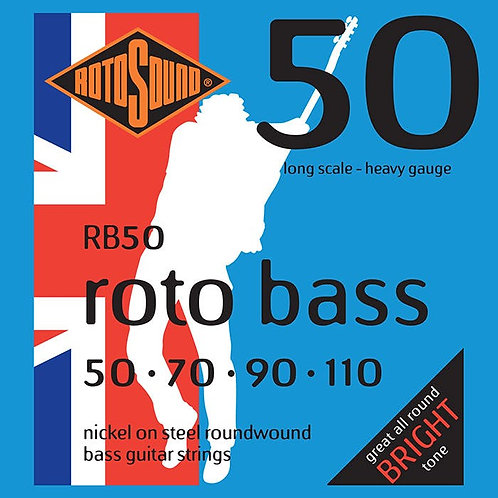Rotosound RB50 Nickel Bass Guitar Strings (50-110) Heavy Long Scale