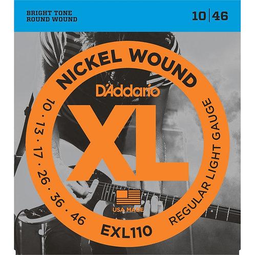 D'Addario EXL110 Regular Light Electric Guitar Strings (10-46)