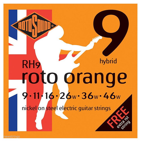 Rotosound RH9 Hybrid Electric Guitar Strings (9-46)
