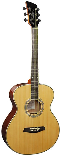 Brunswick Grand Auditorium Acoustic Guitar in Natural Gloss Left Handed
