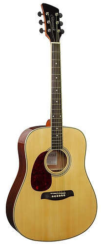 Brunswick Dreadnought Acoustic Guitar in Natural Gloss Left Handed