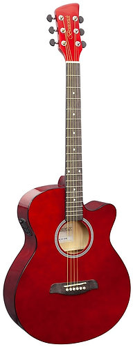 Brunswick Grand Auditorium Electro Acoustic Guitar in Dark Red Gloss