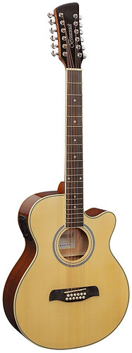 Brunswick Grand Auditorium 12-String Electro Acoustic Guitar in Natural