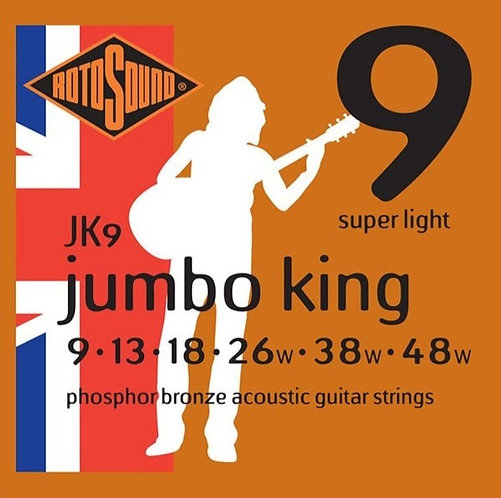 Rotosound JK9 Jumbo King Acoustic Strings (9-48)