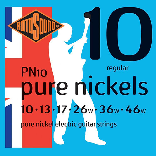 Rotosound PN10 Pure Nickels Regular Electric Guitar Strings (10-46)
