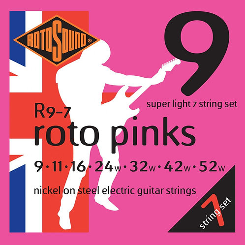 Rotosound R9-7 Super Light 7-String Electric Guitar Strings (9-52)