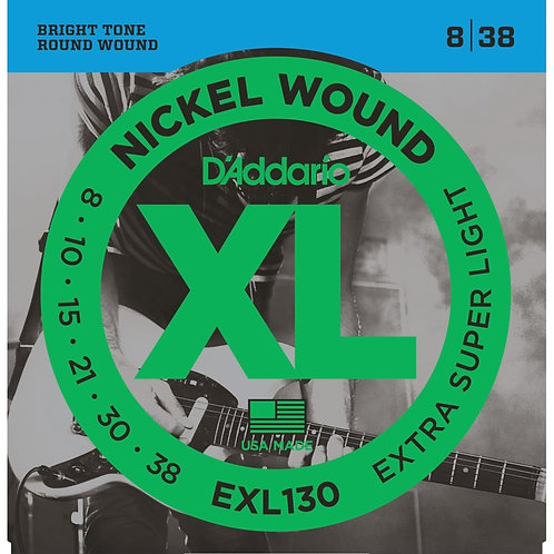 D'Addario EXL130 Extra Super Light Electric Guitar Strings (8-38)