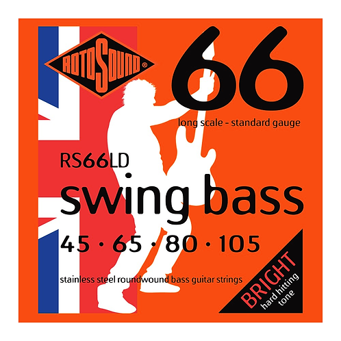 Rotosound RS66LD Swing Bass Guitar Strings (45-105) Standard Long Scale