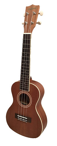 Halona HUKC-20 Concert Ukulele: Strap Buttons Fitted