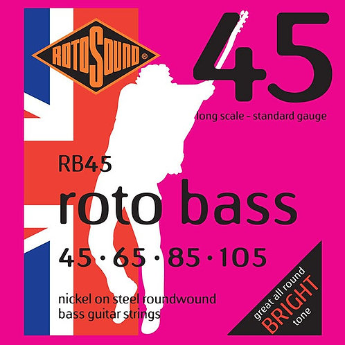 Rotosound RB45 Nickel Bass Guitar Strings (45-105) Standard Long Scale