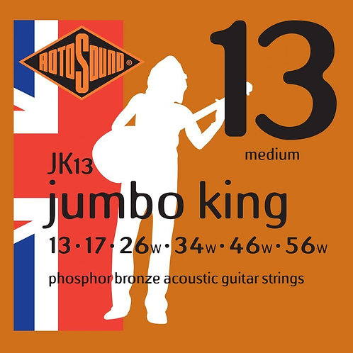 Rotosound JK13 Jumbo King Acoustic Strings (13-56)