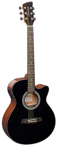 Brunswick Grand Auditorium Electro Acoustic Guitar in Black Gloss