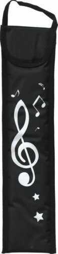 MusicWear Treble Clef Padded Recorder Bag in Black