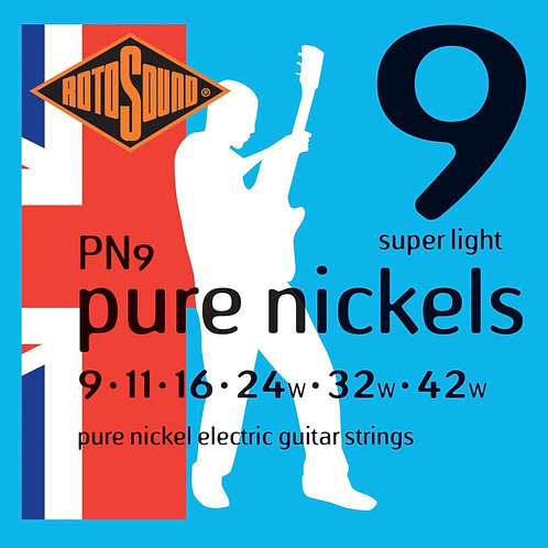 Rotosound PN9 Pure Nickels Super Light Electric Guitar Strings (9-42)