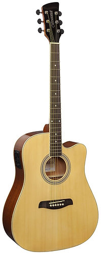 Brunswick Dreadnought Cutaway Electro Acoustic Guitar in Natural Gloss