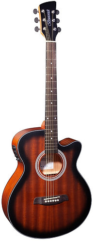 Brunswick Grand Auditorium Electro Acoustic Guitar in Satin Tobacco Sunburst