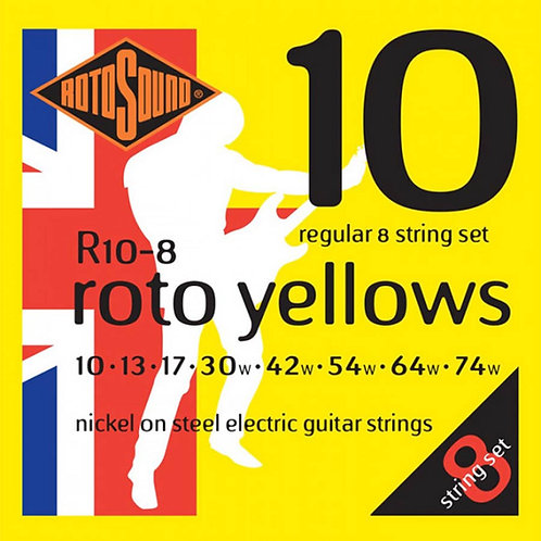 Rotosound R10-8 Regular 8-String Electric Guitar Strings (10-74)