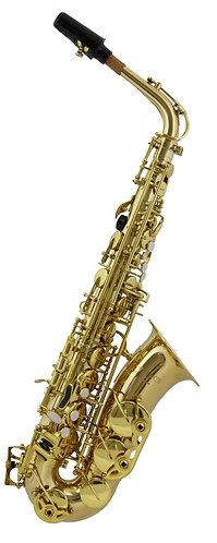 Vivace by Kurioshi Alto Saxophone Outfit: Gold Lacquer