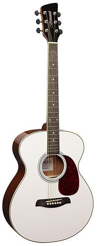 Brunswick Grand Auditorium Acoustic Guitar in White Gloss
