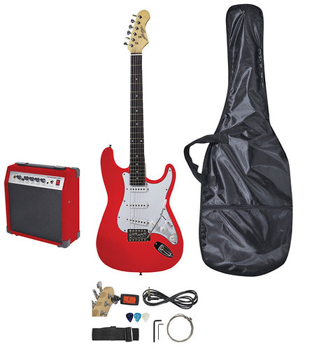 Johnny Brook Electric Guitar Starter Kit in Red