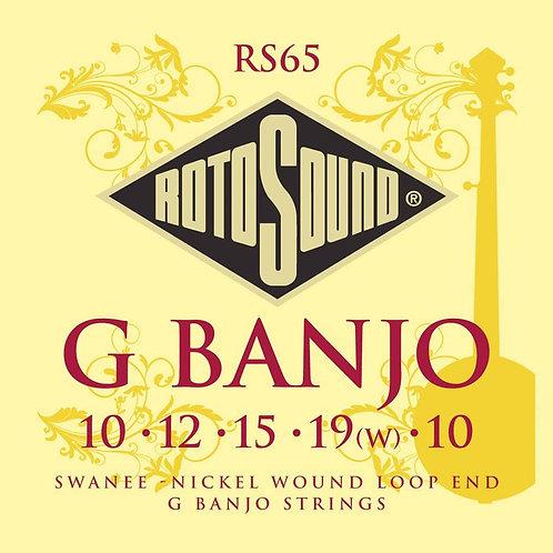 Rotosound RS65 G Banjo Strings (Loop End) 5-String Banjo Set