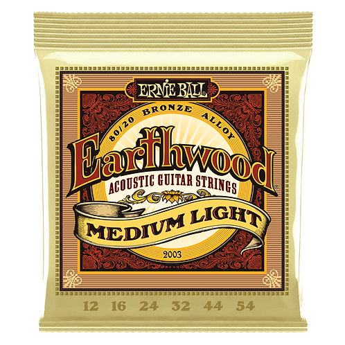 Ernie Ball Earthwood Medium-Light Acoustic Guitar Strings (12-54)