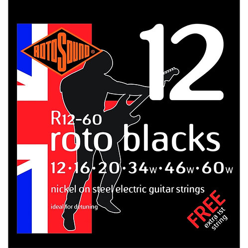 Rotosound R12-60 Custom Gauge Electric Guitar Strings (12-60)