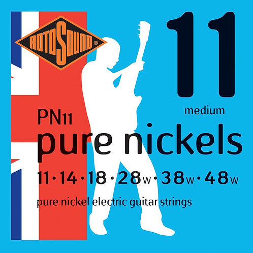 Rotosound PN11 Pure Nickels Medium Electric Guitar Strings (11-48)