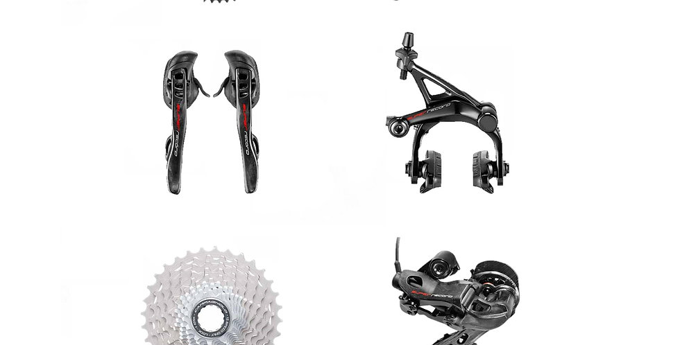 CAMPAGNOLO - PACCHETTO SUPER RECORD EPS 12V. FRENO A PATTINO