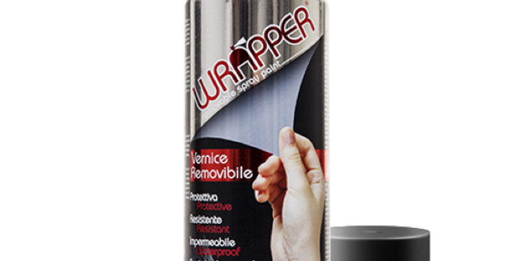 BOMBOLETTA VERNICE SPRAY RIMOVIBILE WRAPPER (NERO/BIANCO/TRASPARENTE) OPACO