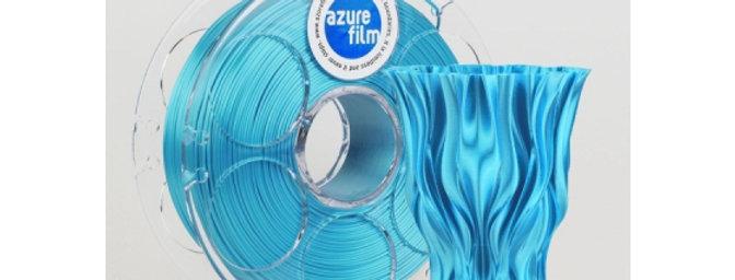 AZUREFILM - FILAMENTO SILK Ø 1.75mm SKY BLUE / ACQUAMARINE