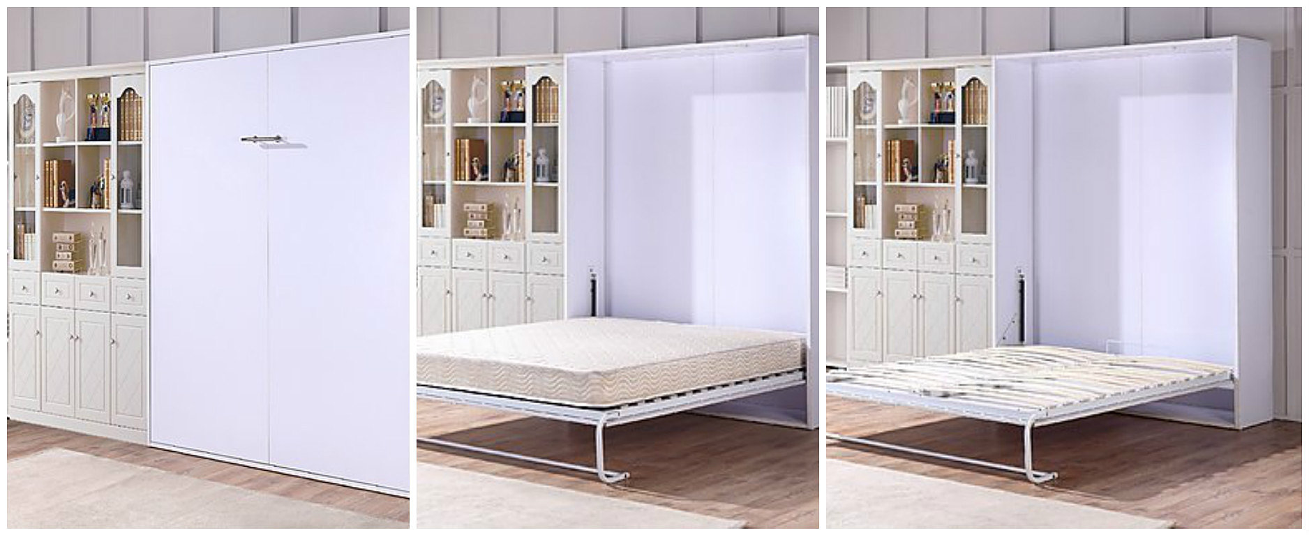 Wall BedTraditional Alder Office With Wall Bed Up Lift U0026