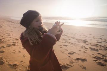 Shooting de plage.