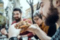Friends in Fast Food Restaurant