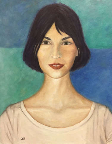 'Claudia' - Oil on canvas, portrait from foto, 40x50 cm