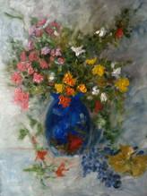 'Little flowers'- Oil on wood,30x40 cm