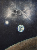 'Milky Way v.3' Oil on wood,33x44.5 cm