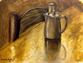 'Teapot' - Oil on paper, 31x22 cm