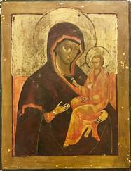 Copy of 'Madonna of Oditrigia - Egg tempera and gold leaf on wood. 17x22 cm