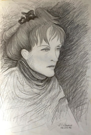 'Ildico' Pencil on paper,35x50 cm
